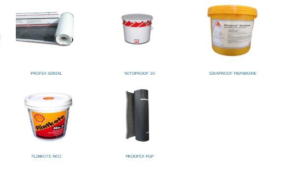Vật liệu chống thấm thông dụng có mặt trên thị trường